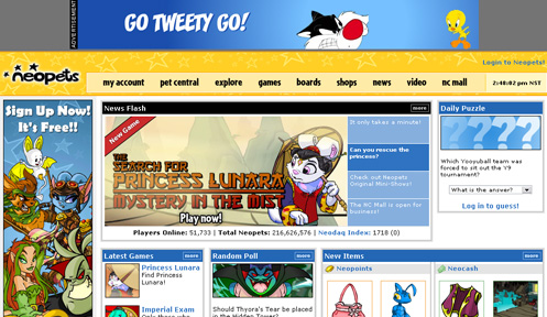 Neopets (PC : BROWSER) - The Gamer's Journal